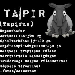 Tapir Wissen Fakten Wiki Schlau Geschenk