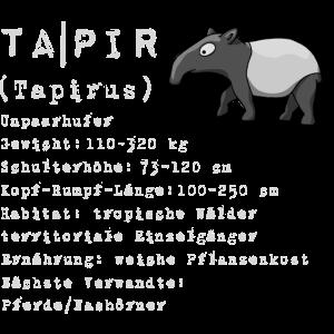 Schabracken Tapir Wissen Fakten Geschenk