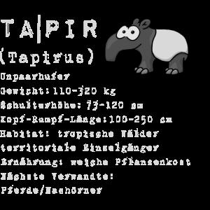 Comic Tapir lustig Wissen Fakten Geschenk