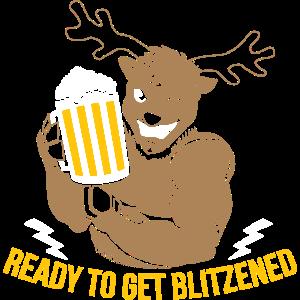 Weihnachten Bier Ready to get blitzened Geschenk