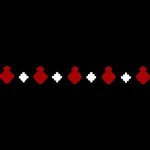 Strickpullover Muster Reihe Weihnachtskugel