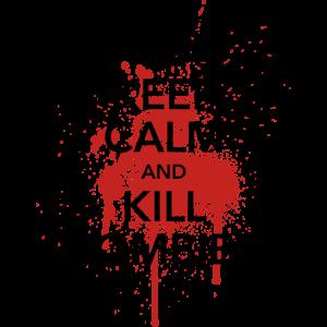keep calm crown Kill Zombies! Halloween Blut Krone
