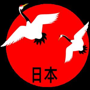 Japan Kirschblueten Kranich Japanfan Japanreise