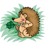 The little hedgehog with the clover leaf