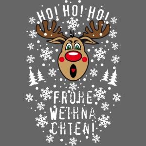 Ho Ho Ho Frohe Weihnachten.74 Hirsch Rudolph Ho Ho Ho Frohe Weihnachten Kinder Premium T Shirt