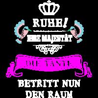 Tante Tshirt Geschenk Majestät Krone Geschenkidee
