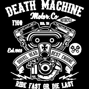 DEATH MACHINE - Motorrad und Biker Shirt Motiv