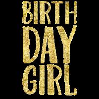 Geburtstagstag Girl Gold2