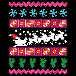 Christmas Santa Ugly Shirt
