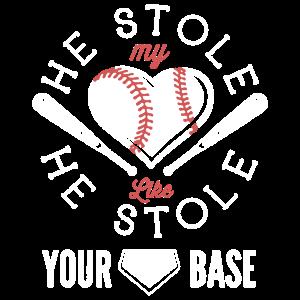 Baseball-Liebes-Hemd