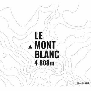 Mont Blanc et courbes de niveau