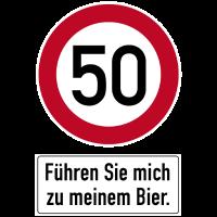 50. Geburtstag Jubiläum Führen Sie mich Bier Durst