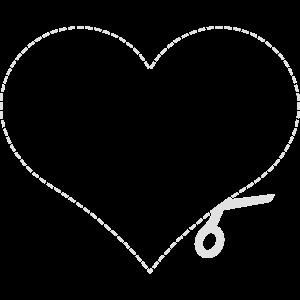 Heart Cut Herz Ausschneiden Schablone