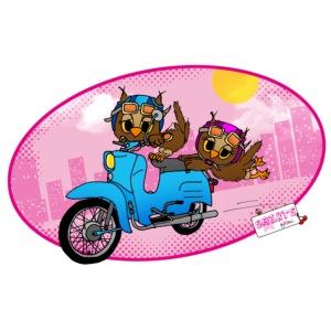 Eulen mit Moped - Eulen byMoni
