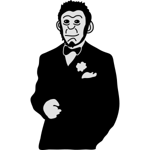 Lackaffe | Affe | Affen | Schimpanse | Anzug Mode