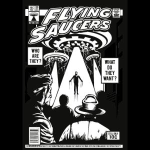 fliegende Untertasse Comic-Cover