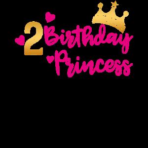 Birthday Princess 2. Geburtstag Mädchen Geschenk