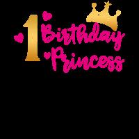 Birthday Princess 1. Geburtstag Mädchen Geschenk