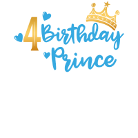 Birthday Prince 4. Geburtstag Boy Junge Geschenk