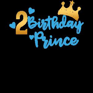 Birthday Prince 2. Geburtstag Boy Junge Geschenk