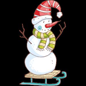 Schneemannschlitten