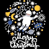 Astronaut Weihnachten