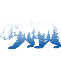 Bär Landschaft - Arktis Berge Wald