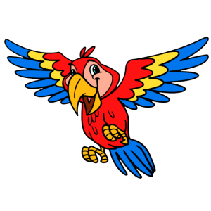Herziger Papagei