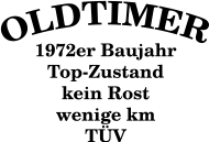 Jahrgang 1970 Geburtstagsshirt: Oldtimer, Baujahr 1972