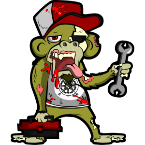 Zombie Monkey Mechaniker