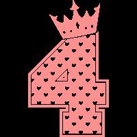 4 - Vier - Vier Jahre - Geburtstag - Birthday Girl