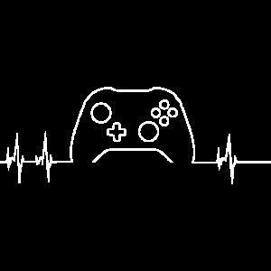 Gamer Herzschlag Gaming Geschenk