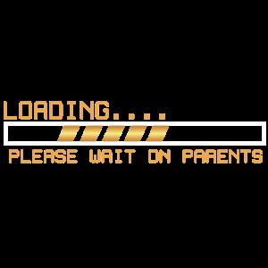 Loading/Toolbar warten auf Eltern Geschenk