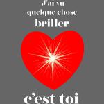 Coeur brillant ...amoureux ou inspiré FS