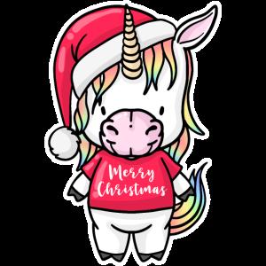 Christmas Unicorn Weihnachten Einhorn