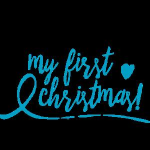 my first christmas - blau