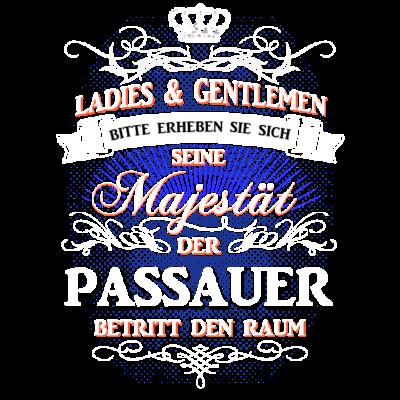 Männer-T-Shirt für Passauer - Exklusives Männer-T-Shirt für seine Hoheit den Passauer. - t-shirt,location,stadt,land,bayer,könig,shirt,bayerisch,hoodie,ort,passau,felsenstein,bayern,besonderes,heimat,Passauer,münchen,majestät