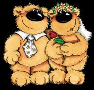 Valentinstag Shirt: Bären Hochzeit