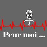 Crâne et croix d'os peur moi rythme cardiaque RFS