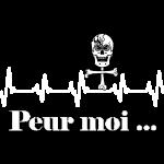 Crâne et croix d'os peur moi rythme cardiaque FS