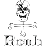 Crâne et croix d'os … Halloween fais moi peur FS