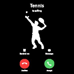 Tennis ruft an Tennis Shirt Anruf Handy Geschenk