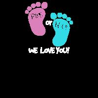 Pink or Blue we love you - werdende Eltern