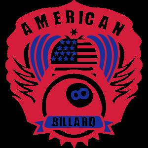 Billard American Logo Flügel Wimpel drapieren