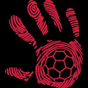handball8 Hand Fußabdruck Hand mano 1110