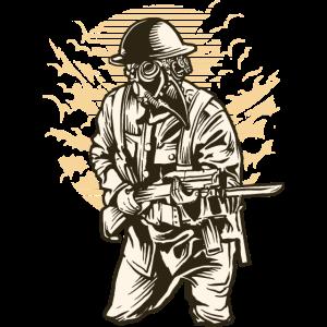 Steampunk-Art-Soldat