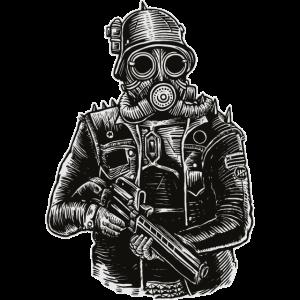 Steampunk-Soldat