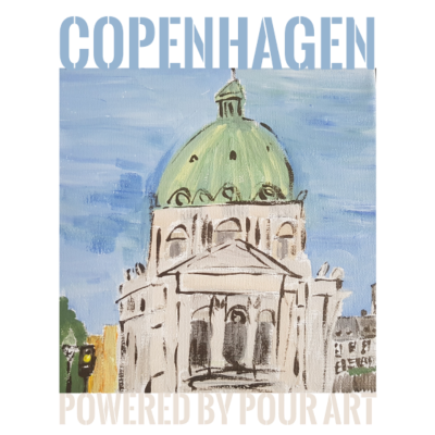 Marmorkirken Stadt Gießen Art - Marmorkirche Kopenhagen Hand lakierte - gießen,Kopenhagen,Dänemark