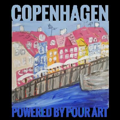Nyhavn Stadt gießen - Nyhavn Kopenhagen Hand bemalt - Nyhavn,gießen,Kopenhagen