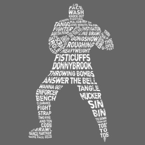 Hockey Enforcer Typography (White)